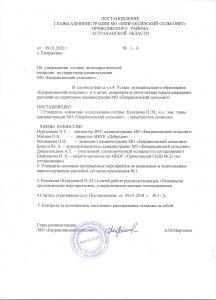 постановление 1 А от 09.01.2020 001